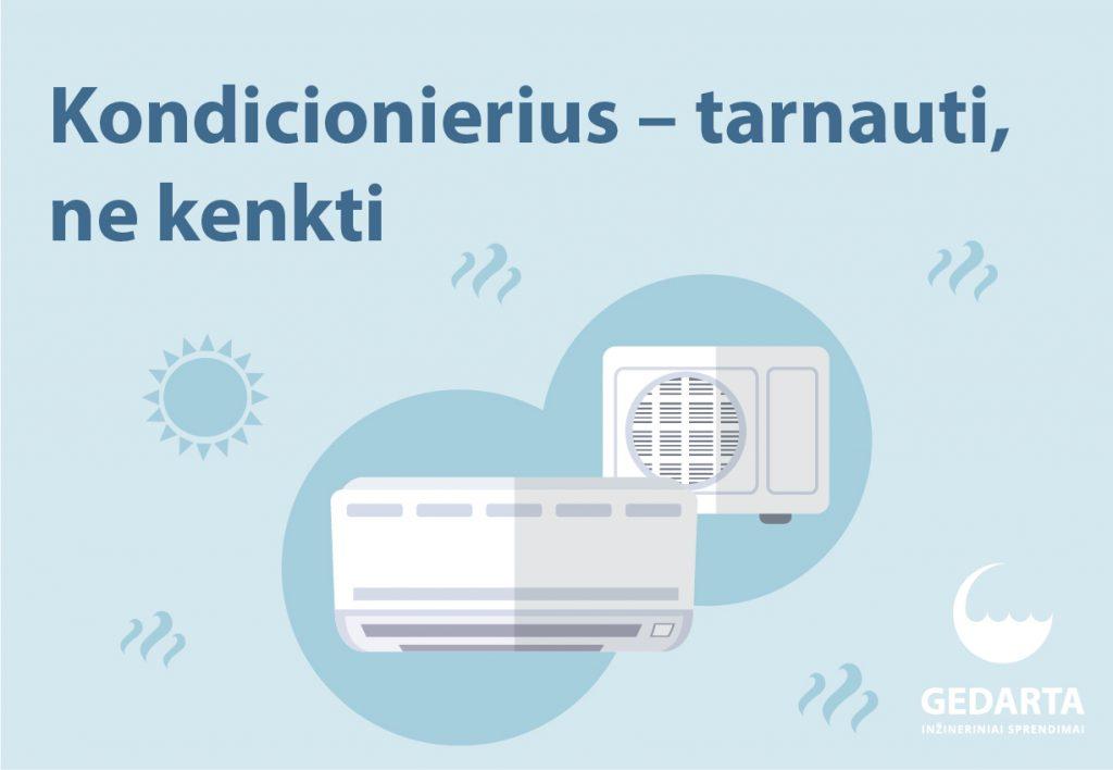Netinkamai naudojamas kondicionierius – tiesiausias kelias į ligas
