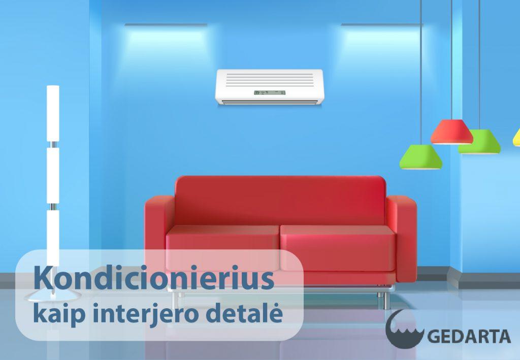 Kondicionierius - interjero detalė