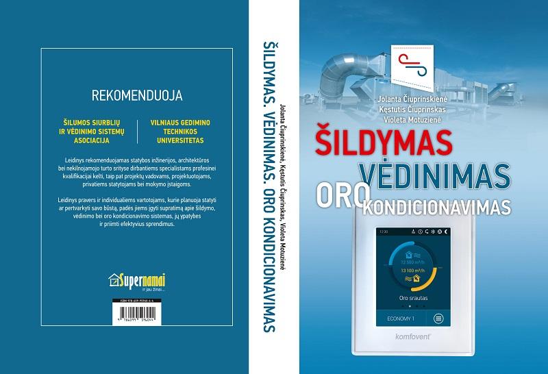 """ŠVOK viršelio išklotinė PRINT NEW Į latvių kalbą verčiama knyga """"Šildymas, vėdinimas, oro kondicionavimas"""""""