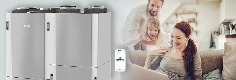Apjungtas namų vėdinimo, šildymo ir karšto buitinio vandens paruošimo sprendimas