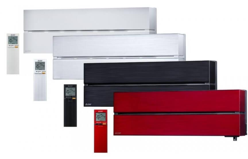 ivairiu spalvu Išskirtinis sieninis šilumos siurblys (kondicionierius) MSZ LN VGHZ (iki  35ºC!)