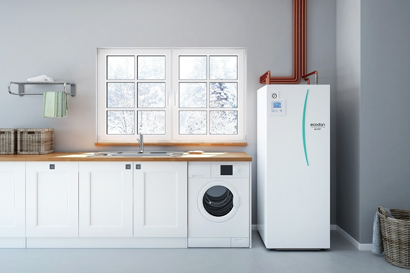 Mitsubishi Eelectric  naujos kartos sistema patalpų šildymui ir karšto vandens ruošimui