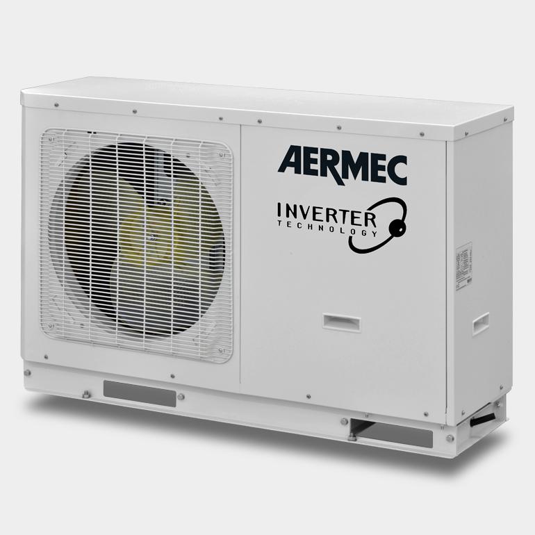 Aermec inverteriniai silumos siurbliai HMI Naujieji AERMEC šilumos siurbliai oras vanduo