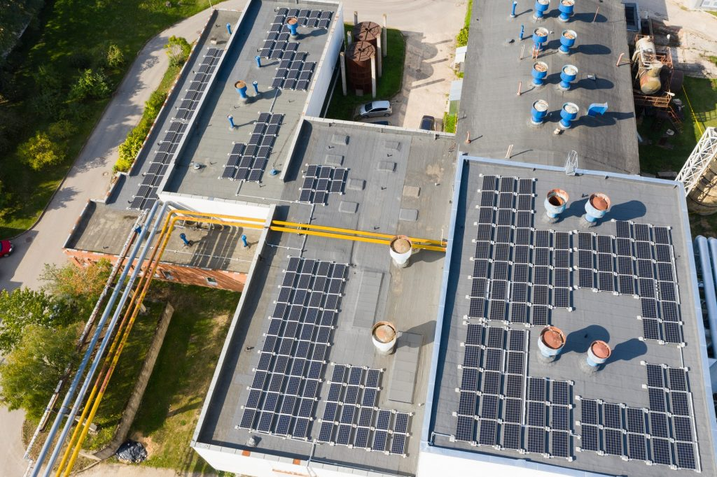 Saulės fotovoltinė elektrinė Girelės katilinėje Jonavoje