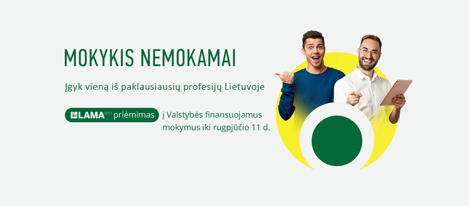 Valstybės finansuojami mokymai Vilniaus Jeruzalės darbo rinkos mokymo centre